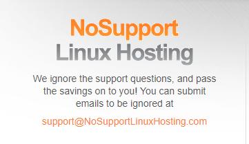 no support linux hosting